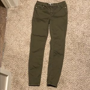 Small olive green skinnies
